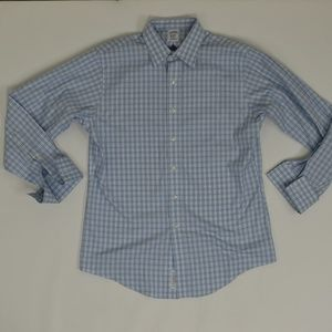 Brook Brothers Regular 16/34 Blue   Button Down Co